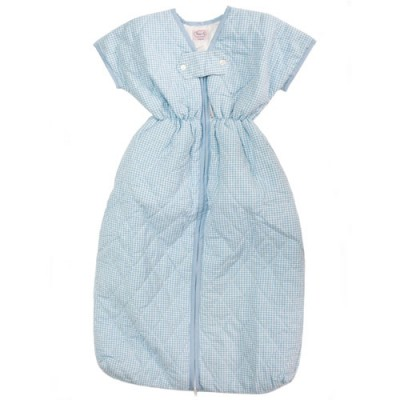 Blue-Gingham-Sleeping-Bag-Front