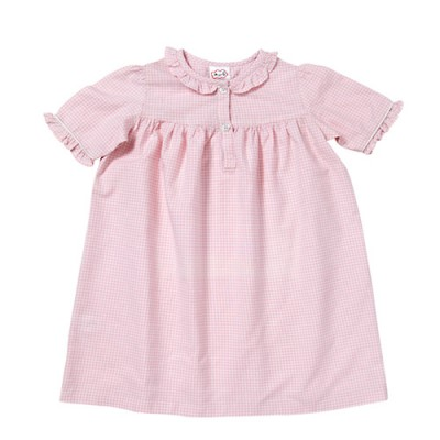 Pink ginham short sleeve nightie