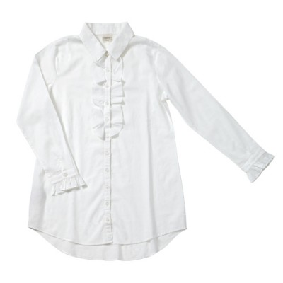 ladies white frill nightshirt