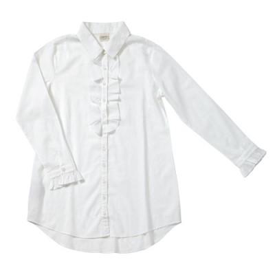ladies white frill nightshirt